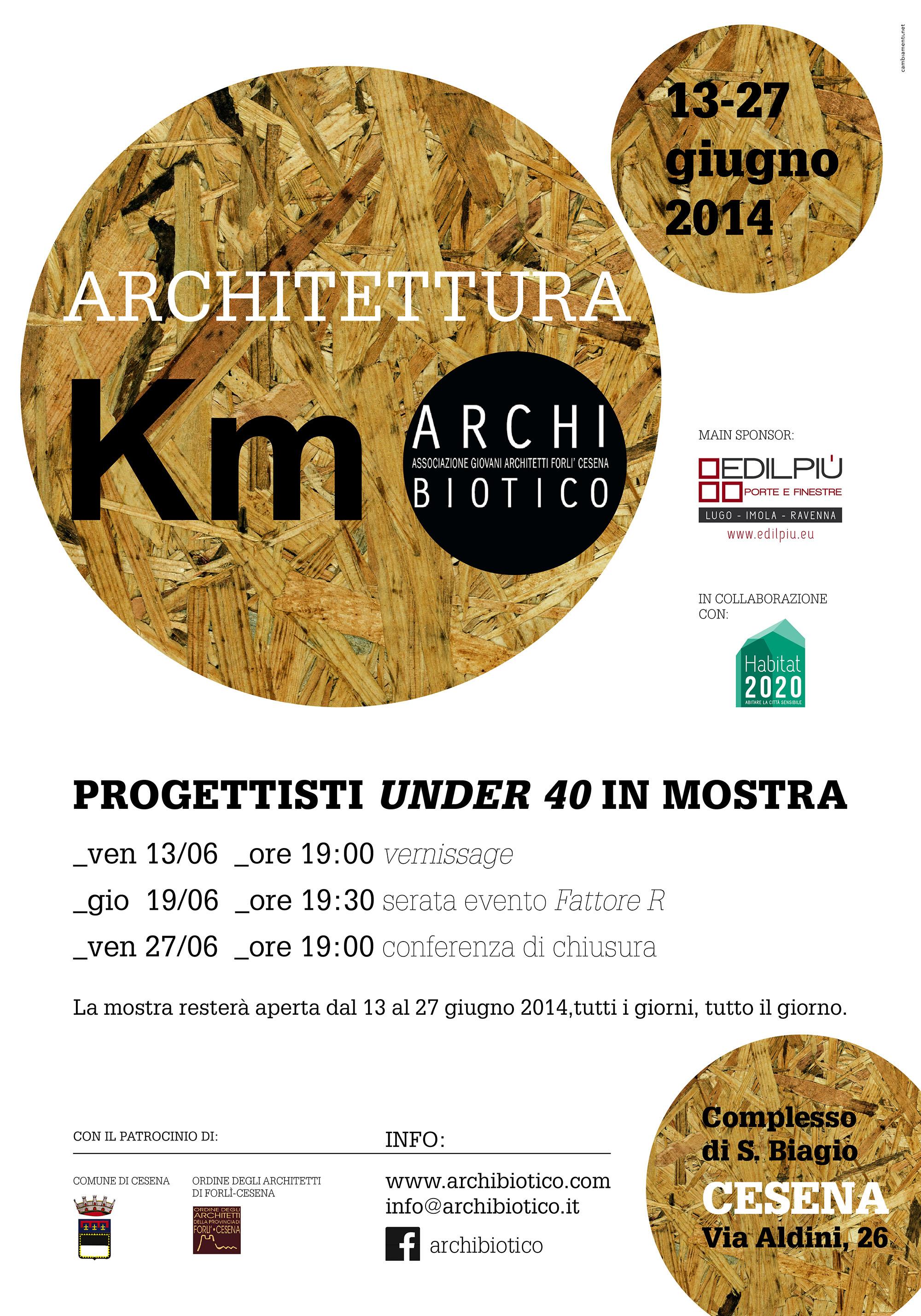 ARCHITETTURA A KM 0 – Progettisti Under 40 In Mostra